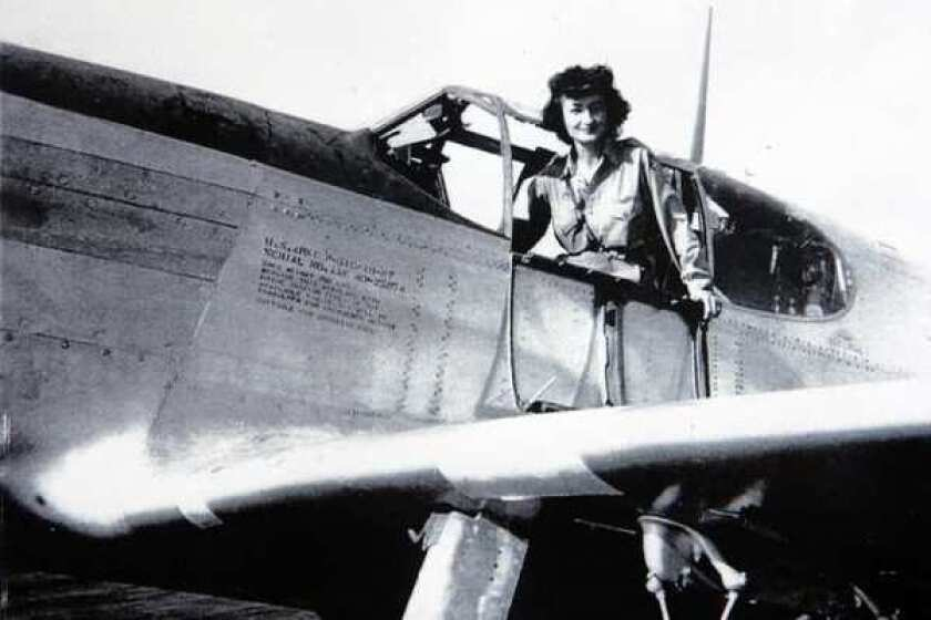 "Violet ""Vi"" Cowden flew military planes during World War II."