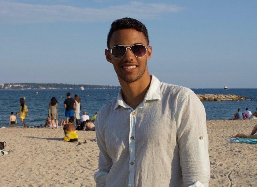 Torrey Pines High School graduate Nicolas Leslie in Nice, prior to the Bastille Day terrorist attack.