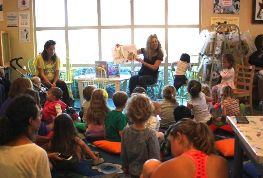 About 30 children came to the March 21 Preschool Storytime with Miss Teri.