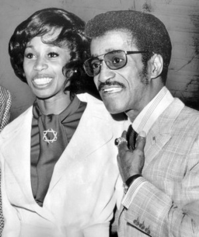 Altovise Davis and Sammy Davis Jr., shown in 1972, met in the mid-1960s when both were appearing in Broadway musicals.