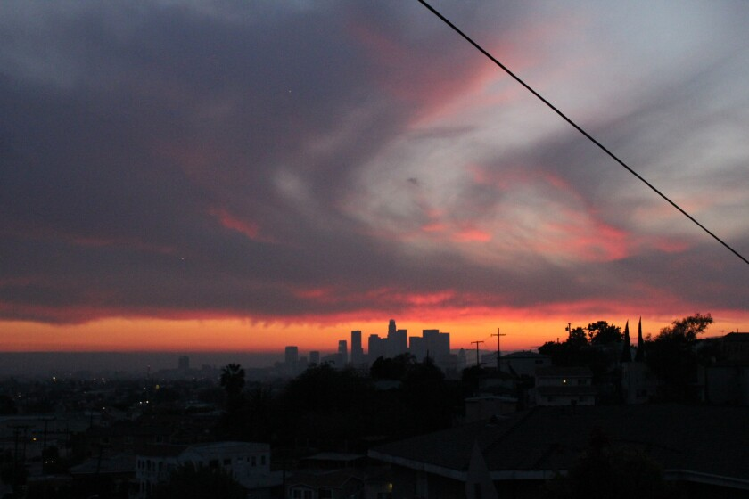 One of L.A.'s breathtaking toxic sunsets. The city has been hailed as a hotbed for artists and members of other creative industries in stories that often overlook the problems.