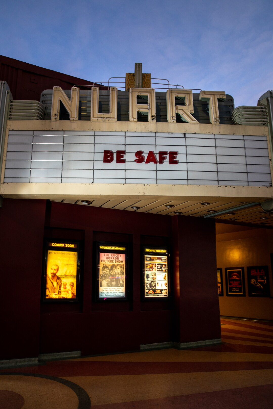 The marquee of Landmark's Nuart Theatre.