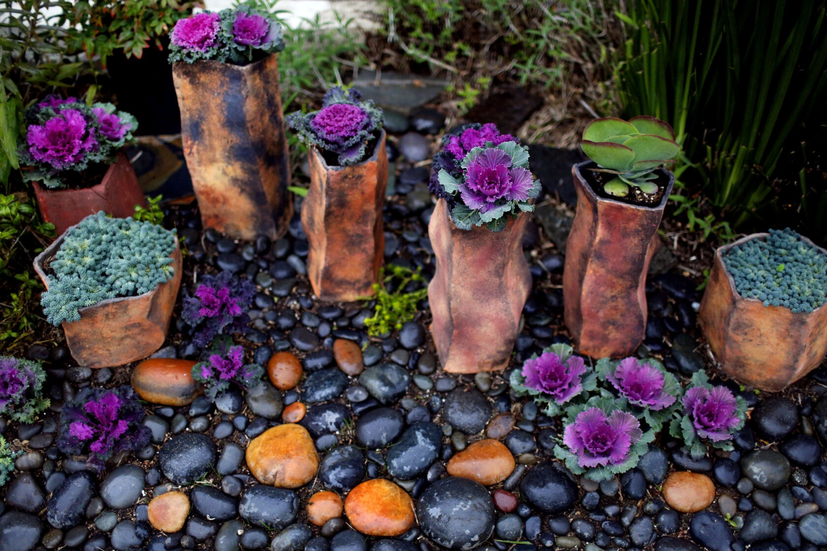 How the drought led an L.A. artist to create this stunning container garden