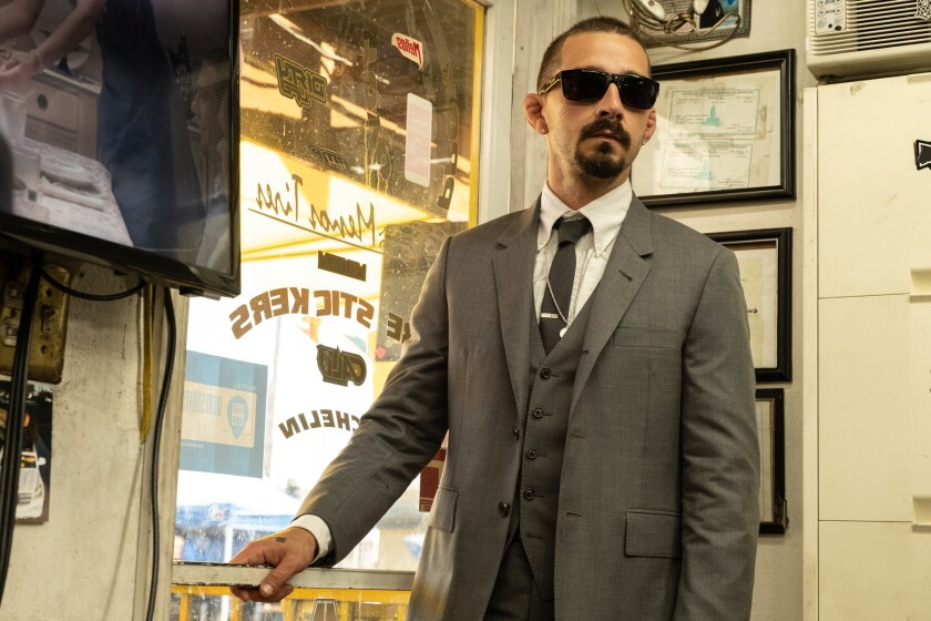"""Shia LaBeouf plays an enforcer for an L.A. drug family in """"The Tax Collector,"""" a film by David Ayer."""