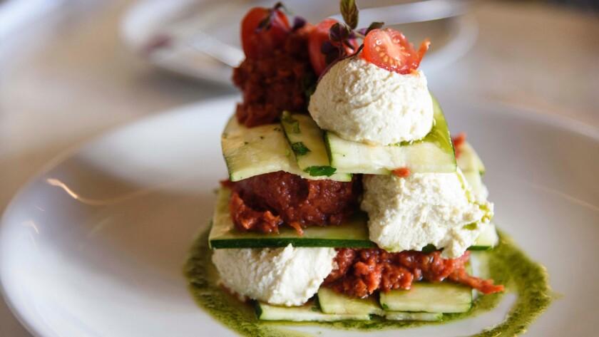 Matthew Kenney's zucchini lasagna.
