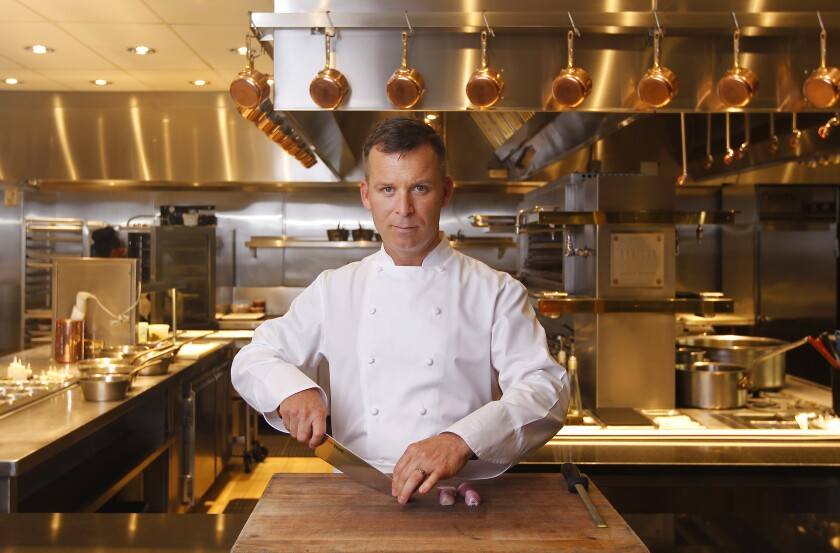 Chef William Bradley at Addison at the Grand Del Mar, which is the only Michelin-starred restaurant in San Diego.
