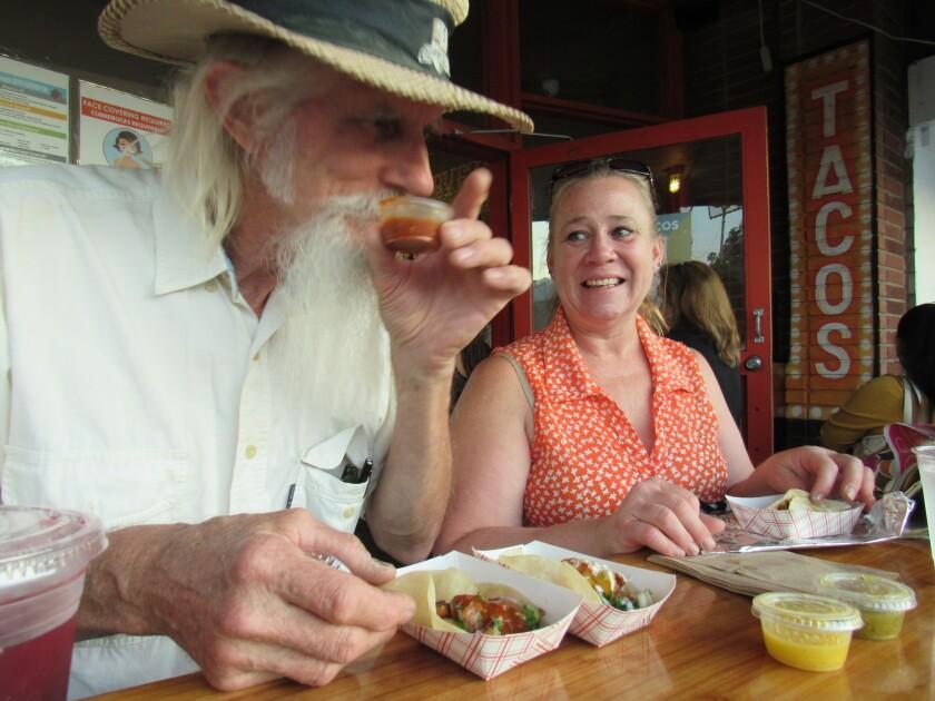 Local diners Martin Seifert and Heather Bellamy