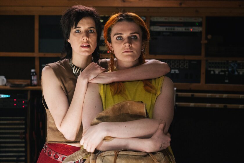"(L-R)- Agyness Deyn and Gayle Rankin in a scene from ""Her Smell."" Credit: Donald Stahl/ Gunpowder &"