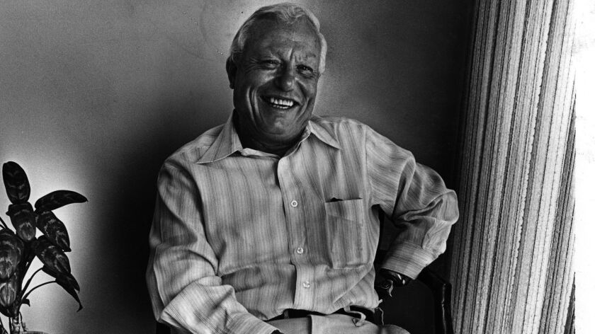 "Harold Russell, double amputee, who won an Academy Award for his first and only previous film,""The Best Years of Our Lives,"" and is now at work on Richard Donner's film ""Inside movies."""