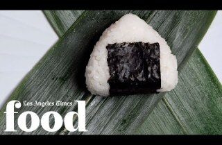 Michelin-starred n/naka chefs make onigiri, Japanese comfort food