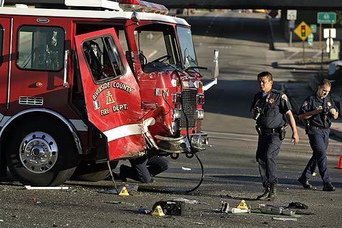 Riverside County firetruck involved in fatality accident - Los