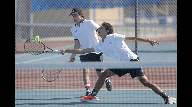 Photo Gallery: Corona del Mar vs. Fountain Valley in boys' tennis team
