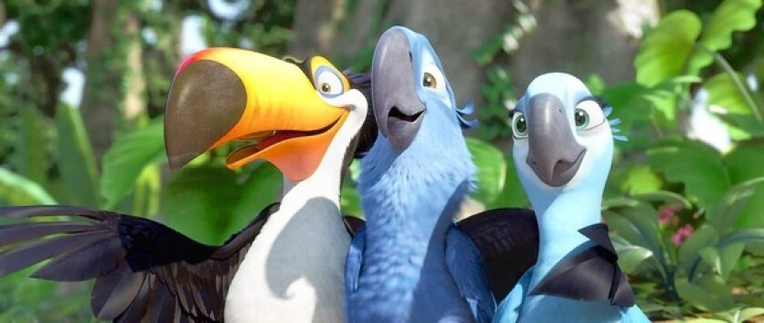 """""""Rio"""" was produced by Blue Sky Studios, formerly a division of 20th Century Fox."""