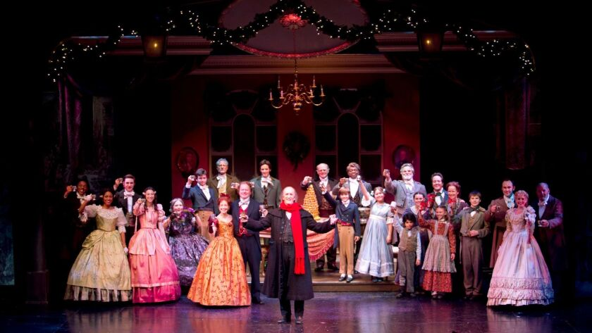 "The cast of South Coast Repertory's 2013 production of ""A Christmas Carol."" The theater will present its 38th annual production till Dec. 24."
