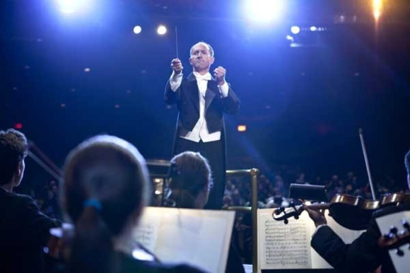 """A lifelong dream to conduct an orchestra comes true for Phil Theodorou on """"The Moment"""" on NBC."""