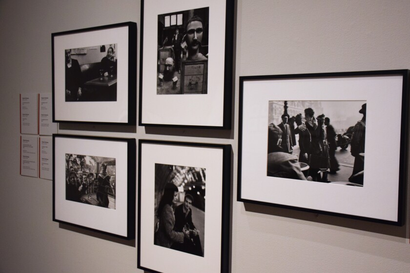 Photographs shot by French photographer Robert Doisneau in the 1950s are on display at the Museum of Photographic Arts. The museum participates in the Memories at the Museum program through the UC San Diego Shiley-Marcos Alzheimer's Disease Research Center.