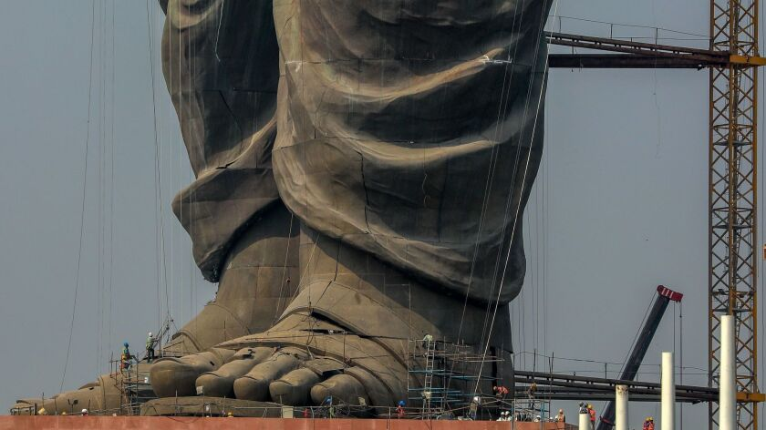 Statue of Unity in Gujarat, Kevadia, India - 18 Oct 2018