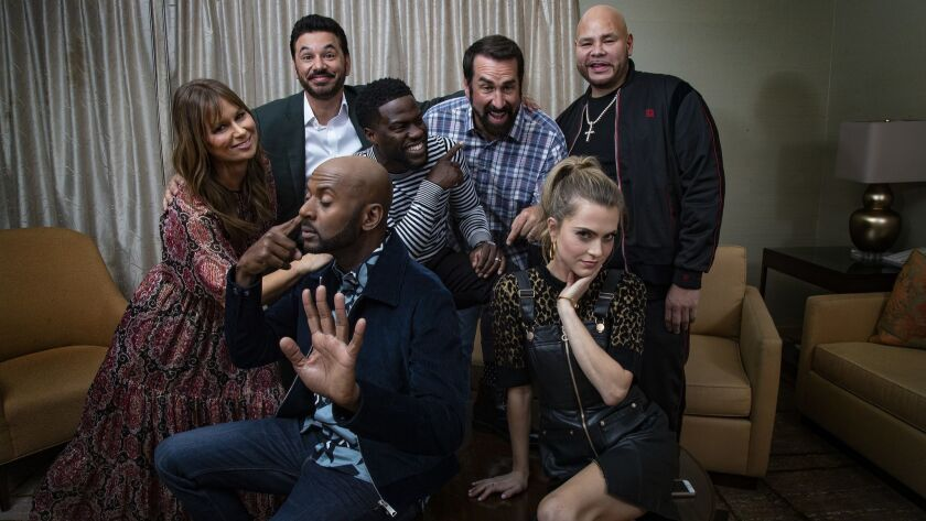 LOS ANGELES, CA - SEPTEMBER 24, 2018: The cast of NBC's Night School get together at the Ritz Carlt