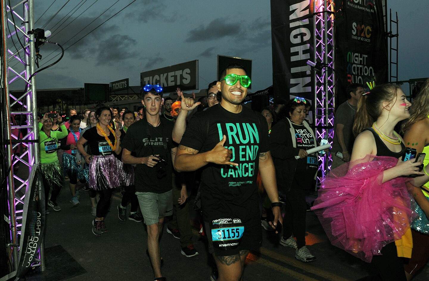 "Billed as ""the world's first running music festival,"" runners at the Night Nation Run at the Del Mar Fairgrounds experienced a music-filled course with DJs, light shows and more on Saturday, May 11, 2019."