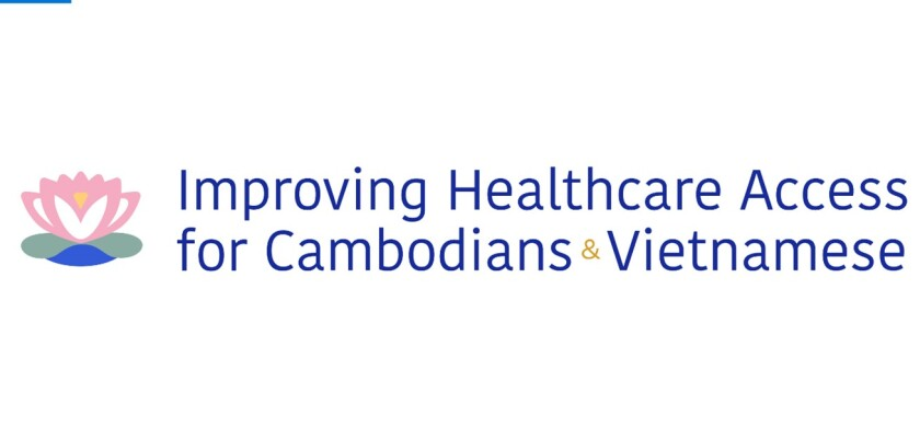 "Logo for TimesOC's ""Improving Healthcare Access for Cambodians & Vietnamese"" series"