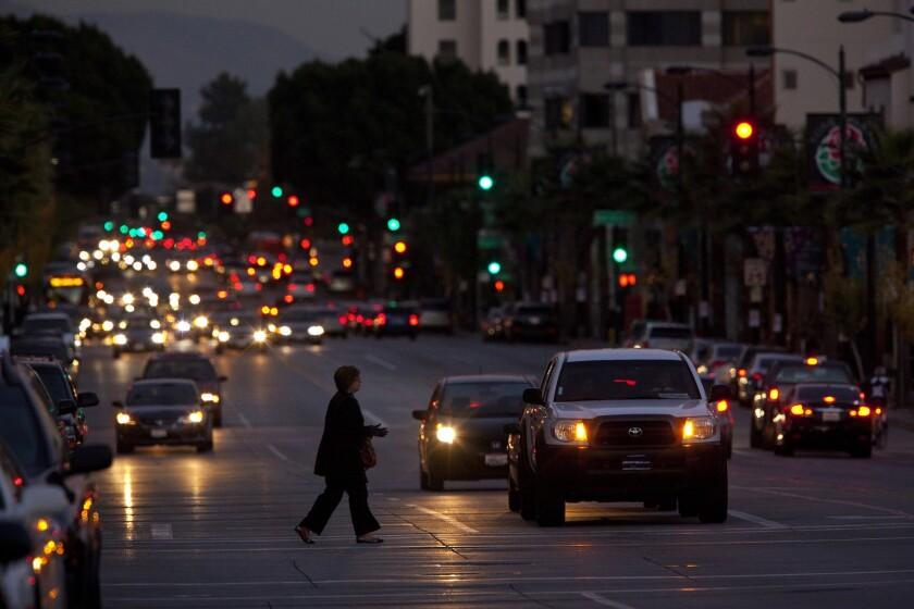 A street scene in Pasadena