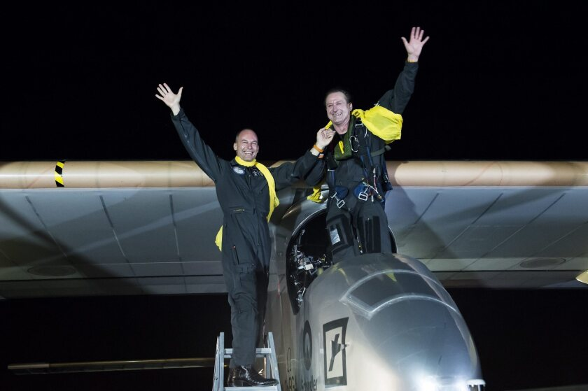 Solar-powered plane Solar Impulse reaches milestone for renewable energy