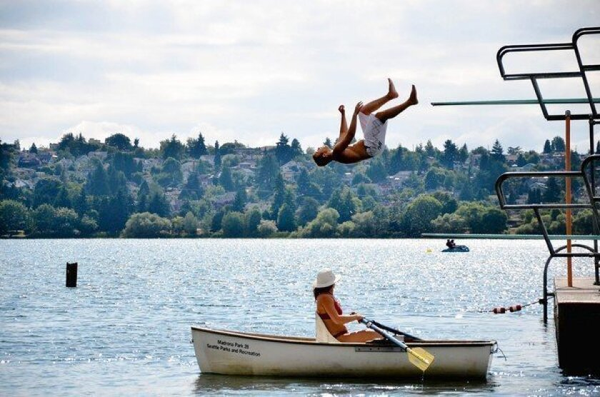 In summer, daredevils hit the floating high-dive platforms in Green Lake. One can also rent kayaks, canoes, rowboats and more.