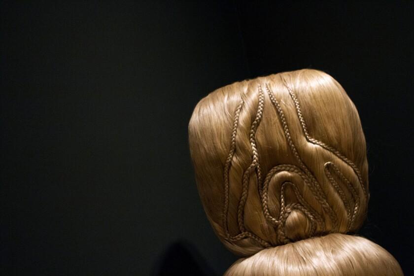 Millie Wilson's hair sculpture