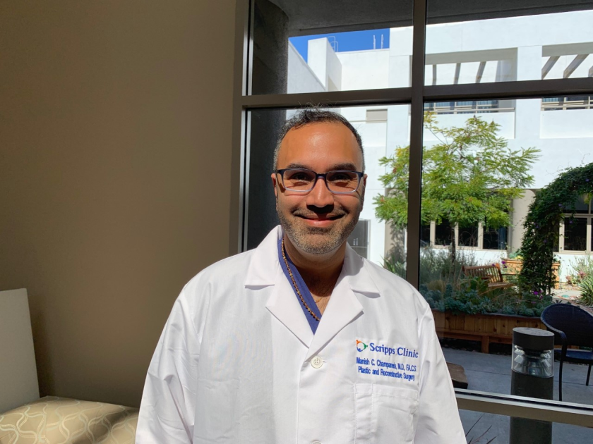 Dr. Manish Champaneria of Scripps MD Anderson Cancer Center recently performed the first vascular lymph node transfer operation in this region.
