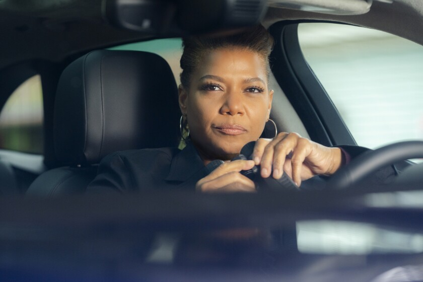 "This image released by CBS shows Queen Latifah in a scene from the series ""The Equalizer."" The CBS reboot with Latifah took advantage of its post-Super Bowl series premiere to rank as the No. 3 show in prime time in its second episode. (Barbara Nitke/CBS via AP)"