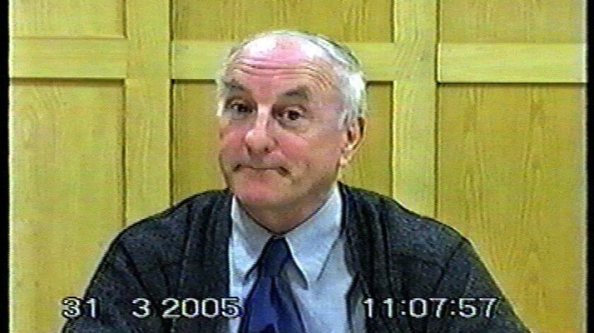 Still frame from video of former Roman Catholic priest Oliver O'Grady as he describes his decades–lo