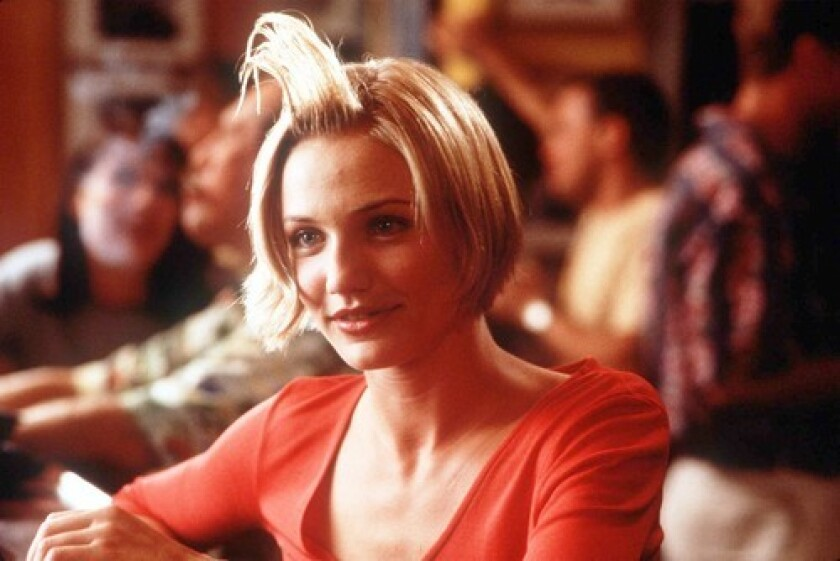 """Cameron Diaz in the iconic hair gel scene in """"There's Something About Mary."""""""