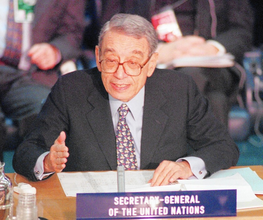 Former U.N. Secretary-General Boutros Boutros-Ghali frequently took vocal stances that angered the Clinton administration. He was the only U.N. secretary-general to serve a single term.