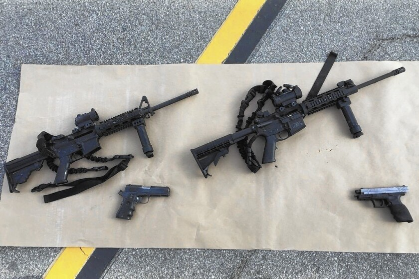 Four of the guns believed used by the couple who killed 14 people at a holiday party in San Bernardino on Wednesday. There is roughly one mass shooting — four or more victims — each day in America.