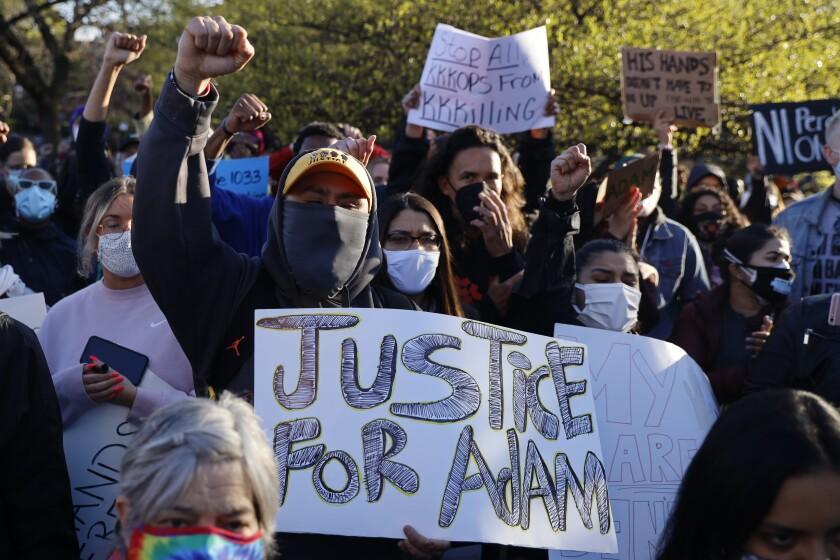 Demonstrators protest in Chicago