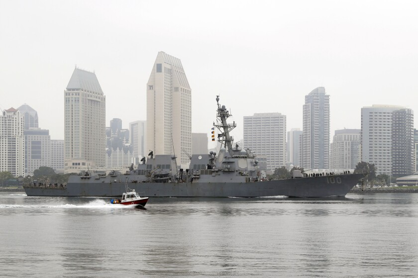 A Navy ship in San Diego.