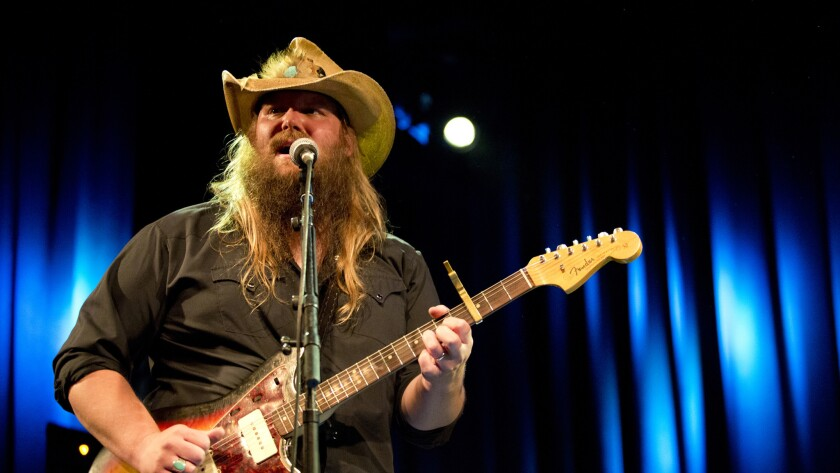 Chris Stapleton, recently given best album, male vocalist and new artist trophies at the 49th CMA Awards ceremony in Nashville, performs at the El Rey Theater in Los Angeles, Ca., on Monday, Nov. 16, 2015.
