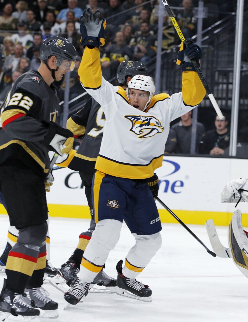 APTOPIX Predators Golden Knights Hockey