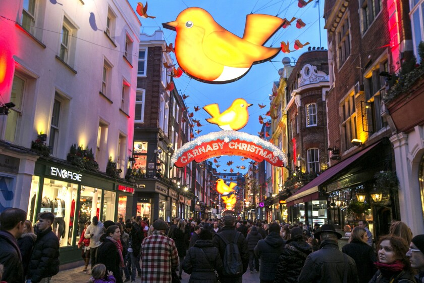 Why travel? Browsing shops like these in London may have health benefits.