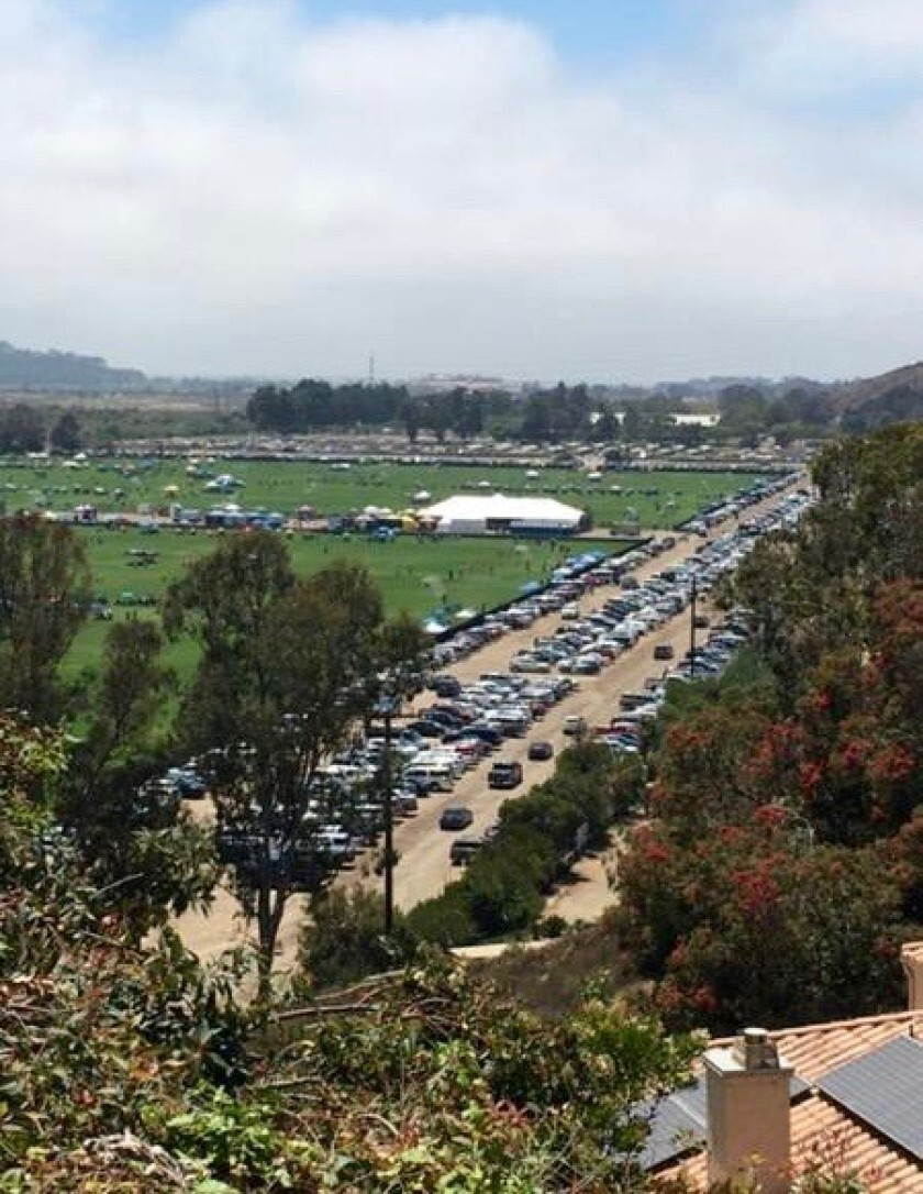 Looking down on Surf Cup Sports Park from the residences above.