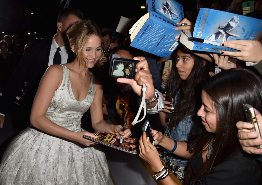 At 'Mockingjay' premiere, glitz and glamour among the ruins