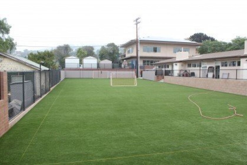 Gillispie School's million-dollar 'Field of Dreams' for athletic instruction and outdoor classroom activities is nearly complete. The artificial turf area was used this summer for a soccer camp.