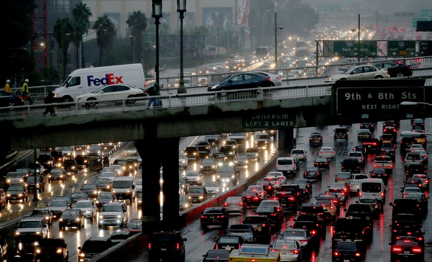 Live updates: Strongest storm in years moves through L A