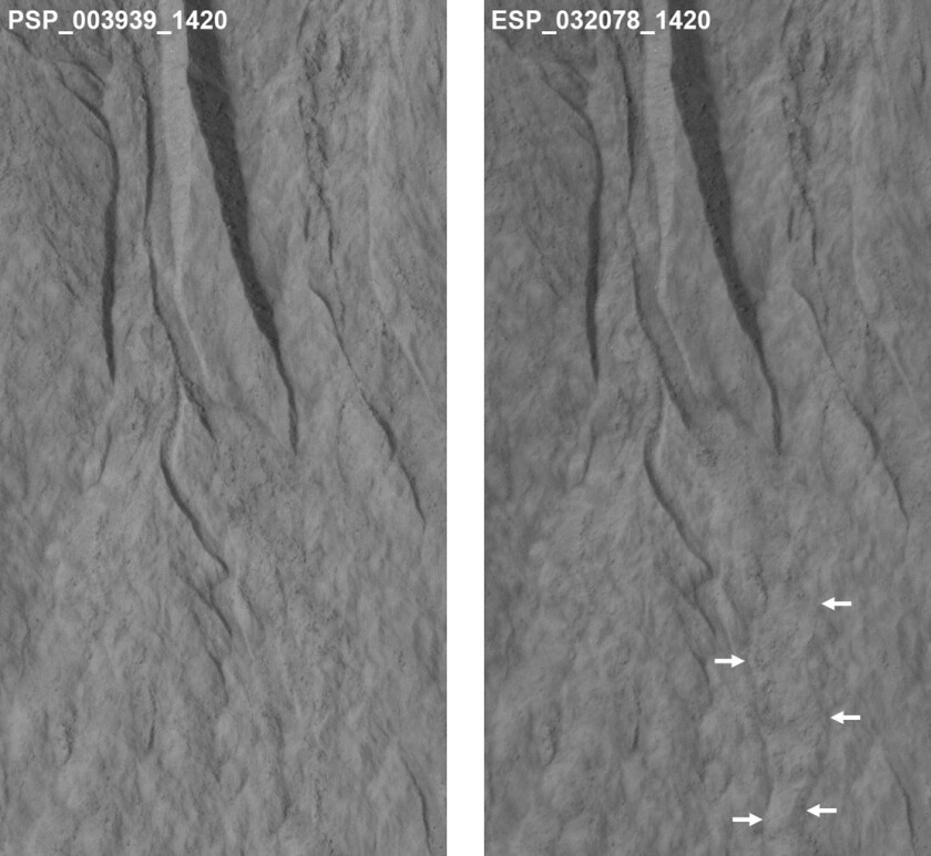 Mars gullies caused by dry ice, not water