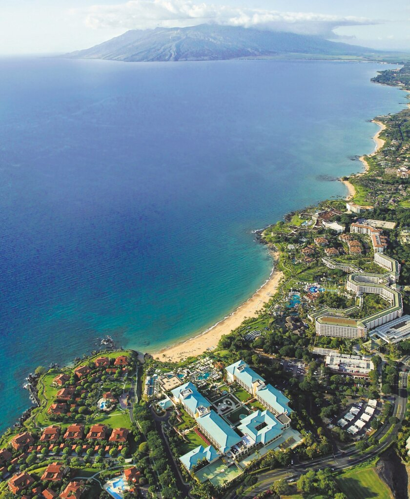 Wailea Resort on Maui's southwest shore covers 1,500 acres and includes six world-class hotels.