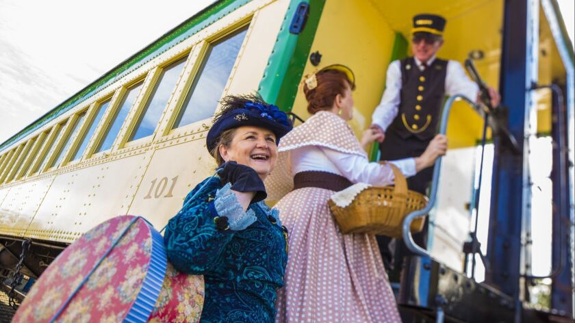 Actors give the V&T Railway Commission's theatrical train excursion in Nevada a distinctly 1800s feel.