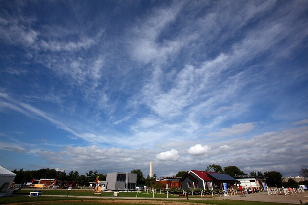 Solar Decathlon 2011, the U.S. Department of Energy's biannual competition in energy-efficient home design, opened in Washington, D.C., with 20 teams.