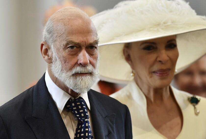 El príncipe Michael de Kent, primo de la reina Isabel II,