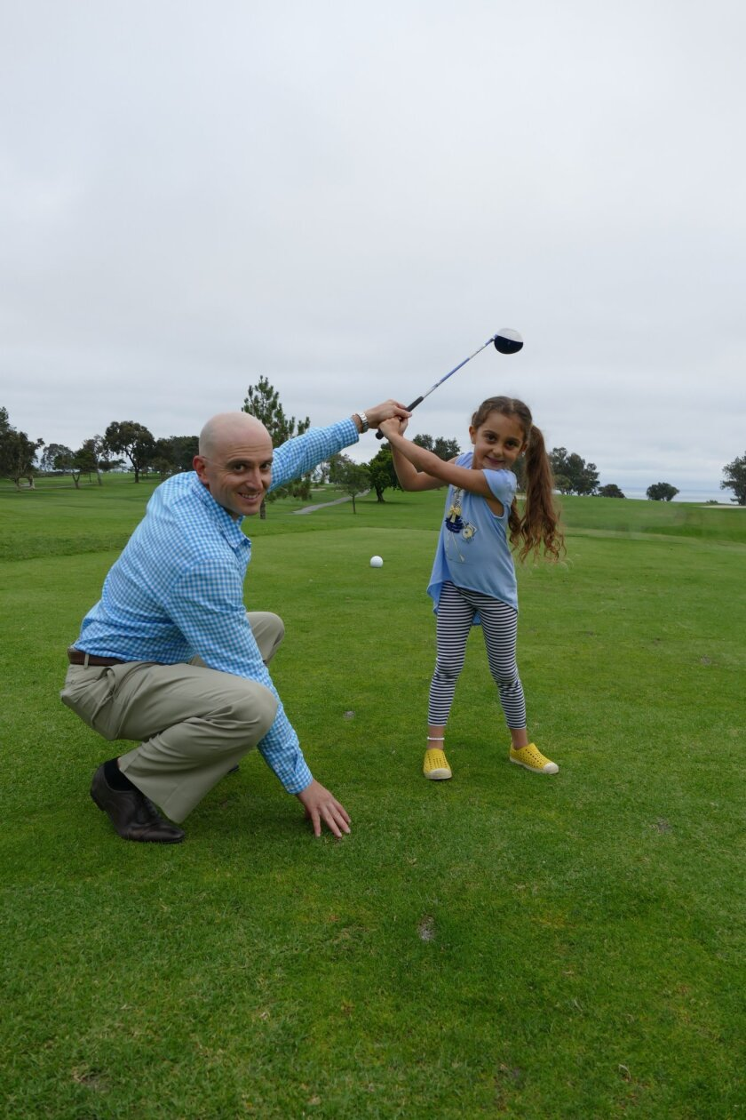 Isabella Itkin's father Eugene regularly helps her practice. Courtesy