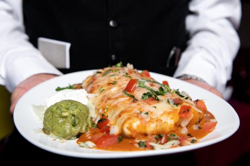 The oven-style burrito from Casa Vega in Sherman Oaks.